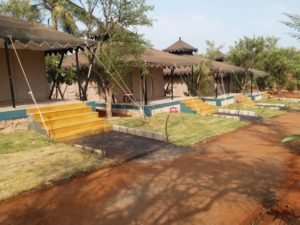 Sit out areas at Kundalika Camps at Kolad Rafting Site