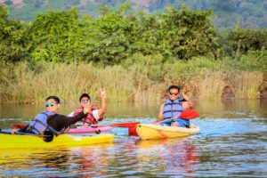 Kayaking at Kolad